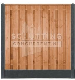 Totaalpakket Douglas hout - zwart/antraciet betonschutting luxe