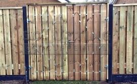 Grenen houten poorten dubbel