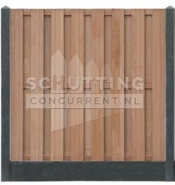Totaalpakket hardhout - zwart/antraciet betonschutting  extra luxe