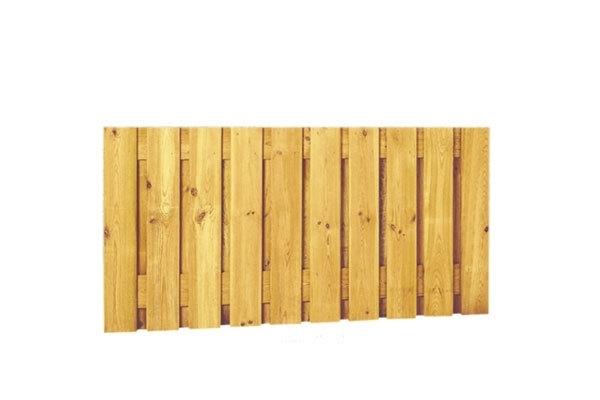 Schuttingscherm grenen verticaal laag 21 planks