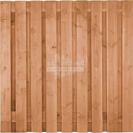 Schuttingscherm douglas verticaal 21 planks