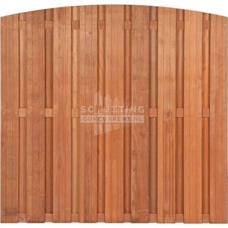Schuttingscherm douglas verticaal 21 planks met toog