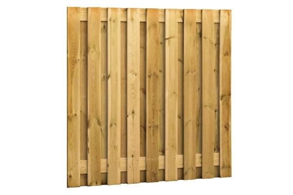 Schuttingscherm grenen verticaal 21 planks