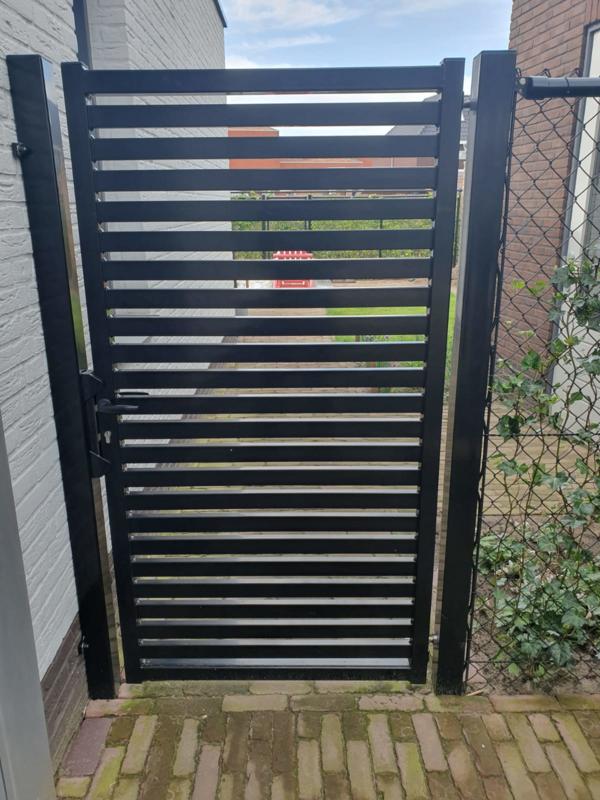 Stalen enkele draai poort - Design Poort