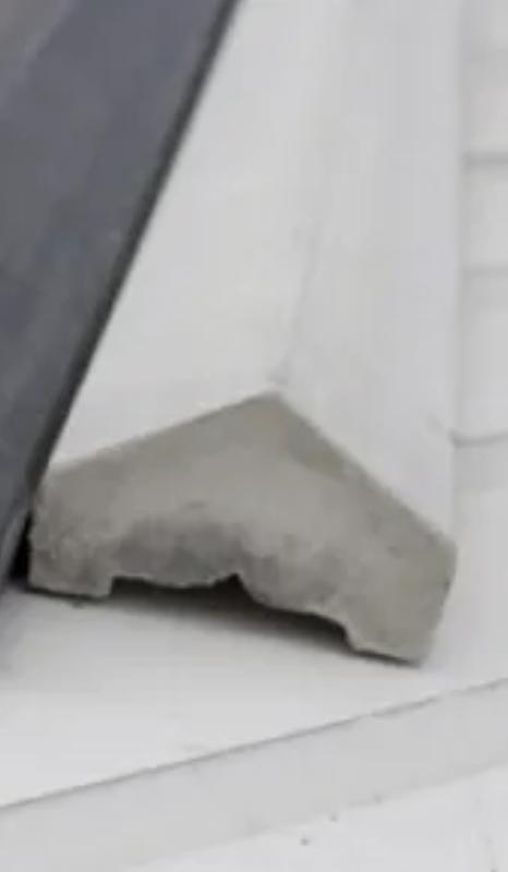 Koplat onderplaten motief grijs/wit