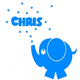 Geboortesticker olifant type Chris