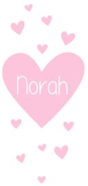 Geboortesticker met hartjes type Norah