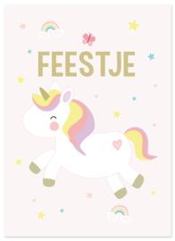 Uitnodiging kinderfeestje Unicorn