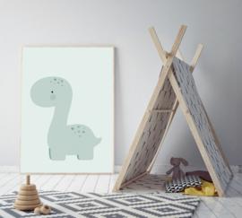 Poster met een dinosaurus - poster babykamer of kinderkamer