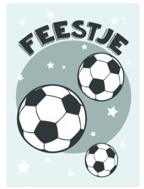 Uitnodiging kinderfeestje Voetbal