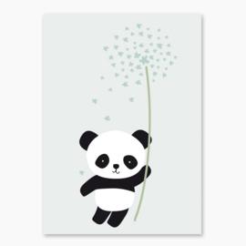 Poster met een panda - poster babykamer of kinderkamer