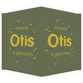 Geboortebord - Geboortebord groen met okergeel type Otis