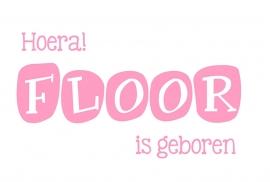 Geboortesticker type Floor
