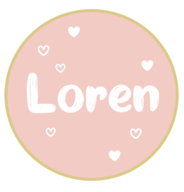 Geboortesticker full colour Loren