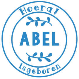 Geboortesticker stempel type Abel