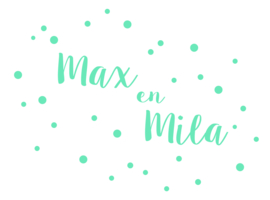 Geboortesticker tweeling Max en Mila