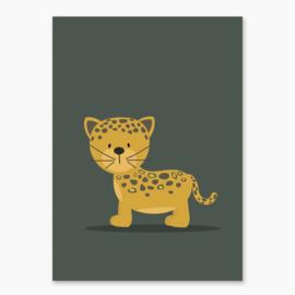 Poster met een leuke jaguar - poster babykamer of kinderkamer