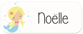 Naamstickers kind met zeemeermin type Noëlle