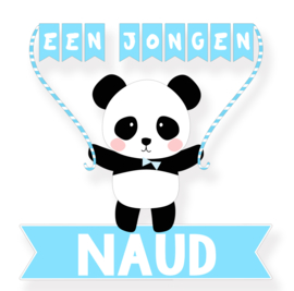 Geboortesticker lieve panda type Naud