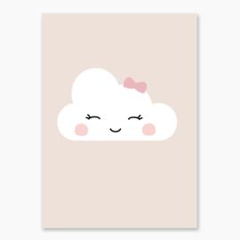 Poster met een schattig wolkje - poster babykamer of kinderkamer