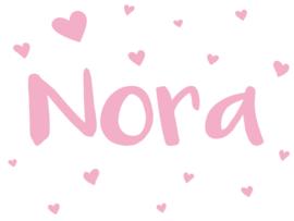 Geboortesticker met hartjes type Nora