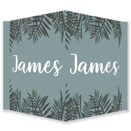Geboortebord jongen - Geboortebord raam met bladeren type James