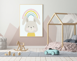 Poster met konijn - poster babykamer of kinderkamer