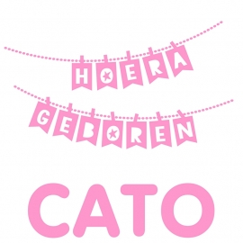 Geboortesticker slinger  type Cato