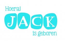Geboortesticker type Jack