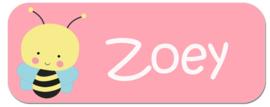 Naamstickers kind met bij type Zoey
