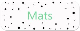 Naamstickers kind met stippen type Mats