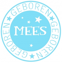 Geboortesticker type Mees
