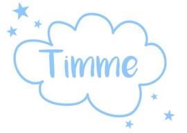 Geboortesticker wolk type Timme