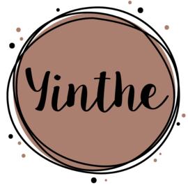 Geboortesticker full colour roest roze kleur met cirkels en stipjes type Yinthe.