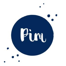 Geboortesticker cirkel en verf spettertjes type Pim