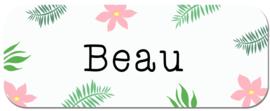 Naamstickers voor een meisje type Beau