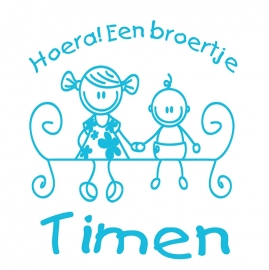 Geboortesticker type Timen