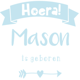 Geboortesticker type Mason