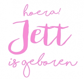 Geboortesticker type Jett
