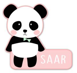 Naamstickers in vorm met een lieve panda