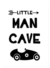 Poster little man cave - poster babykamer of kinderkamer