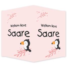 Geboortebord - Geboortebord raam met een super leuke toekan type Saare