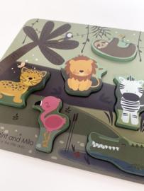 Houten jungle puzzle - Mint and Milo