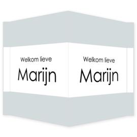 Geboortebord - Geboortebord raam type Marijn