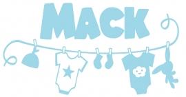 Geboortesticker waslijn type Mack