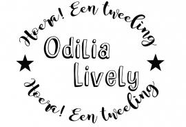 Geboortesticker type Odilia en Livia