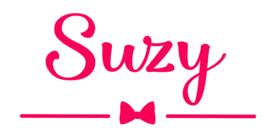 Geboortesticker met schattig strikje type Suzy