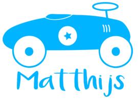 Geboortesticker loopwagen type matthijs