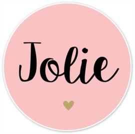 Geboortesticker full colour met een goud kleurig hartje type Jolie