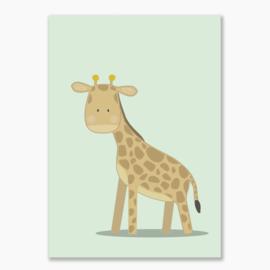 Poster met een giraf - poster babykamer of kinderkamer